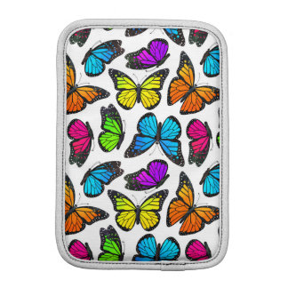 Rainbow Monarch Butterfly Pattern iPad Mini Sleeve