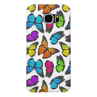 Rainbow Monarch Butterfly Pattern Samsung Galaxy S6 Case