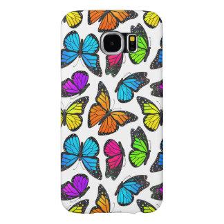 Rainbow Monarch Butterfly Pattern Samsung Galaxy S6 Case