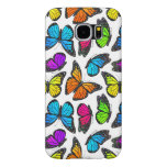 Rainbow Monarch Butterfly Pattern Samsung Galaxy S6 Cases