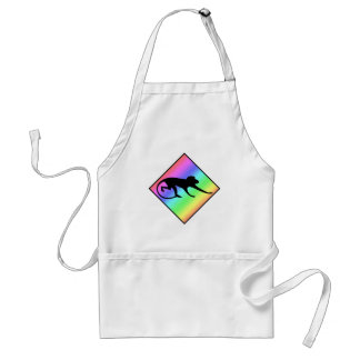 Rainbow Monkey Crossing Adult Apron