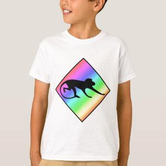 Rainbow Monkey Crossing T-Shirt