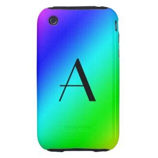 Rainbow monogram tough iPhone 3 case