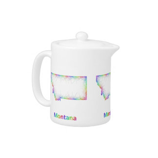 Rainbow Montana map Teapot