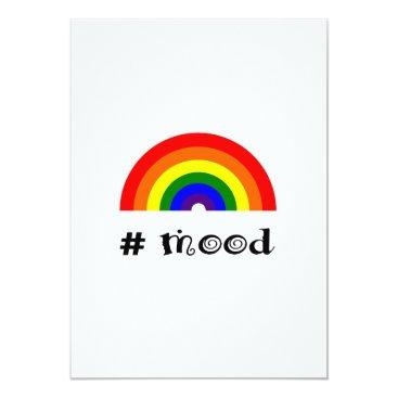 Art Themed Rainbow mood card