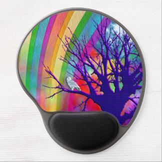 Rainbow Moon Gel Mouse Pad