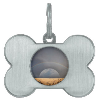 Rainbow Moon Pet Tag