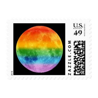 Rainbow Moon Postage