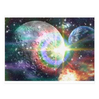 rainbow moon postcard