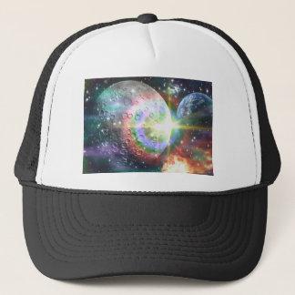 rainbow moon trucker hat