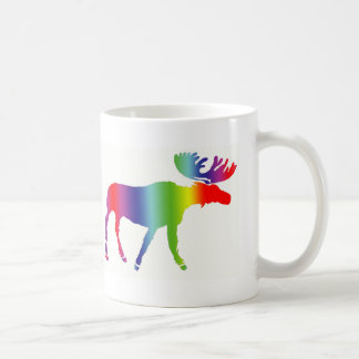 Rainbow Moose Coffee Mug