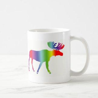 Rainbow Moose Coffee Mug