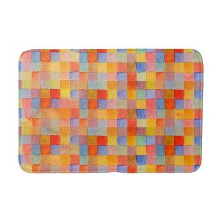 rainbow mosaic bath mat