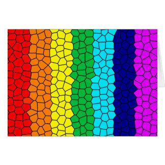 Rainbow Mosaic Card