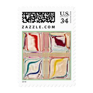 rainbow mosaic customizable stamps