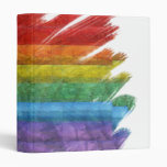 Rainbow Mosaic Gay Pride Flag 3 Ring Binders