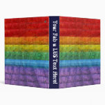 Rainbow Mosaic Gay Pride Flag Binder