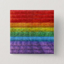 Rainbow Mosaic Gay Pride Flag Button