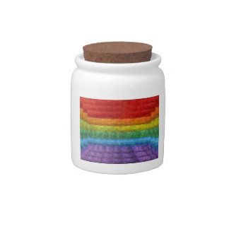 Rainbow Mosaic Gay Pride Flag Candy Jars