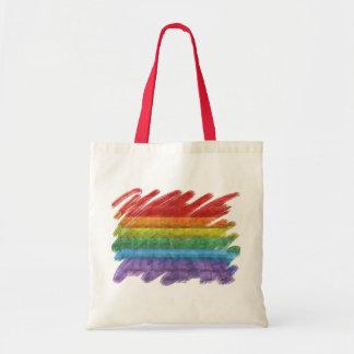 Rainbow Mosaic Gay Pride Flag (Paintbrush) Tote Bag