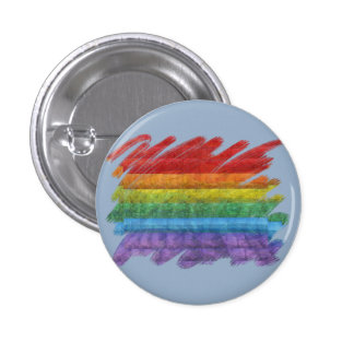 Rainbow Mosaic Gay Pride Flag (Paintbrush) Buttons