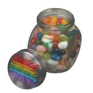 Rainbow Mosaic Gay Pride Flag (Paintbrush) Glass Jars