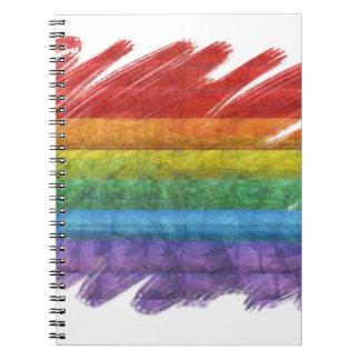 Rainbow Mosaic Gay Pride Flag (Paintbrush) Note Book