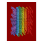 Rainbow Mosaic Gay Pride Flag (Paintbrush) Poster