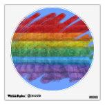 Rainbow Mosaic Gay Pride Flag (Paintbrush) Room Graphics