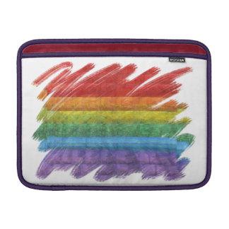 Rainbow Mosaic Gay Pride Flag (Paintbrush) Sleeve For MacBook Air
