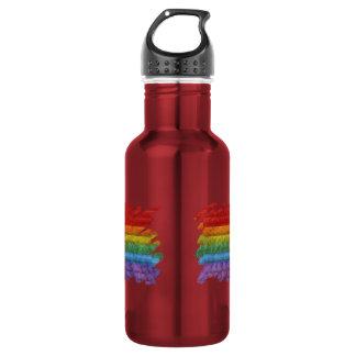 Rainbow Mosaic Gay Pride Flag (Paintbrush) Water Bottle