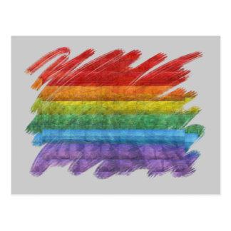 Rainbow Mosaic Gay Pride Flag Postcards