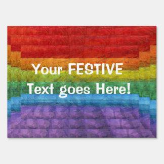Rainbow Mosaic Gay Pride Flag Sign