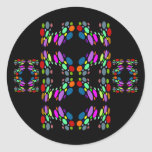 Rainbow Mosaic on Black Stickers for Kids