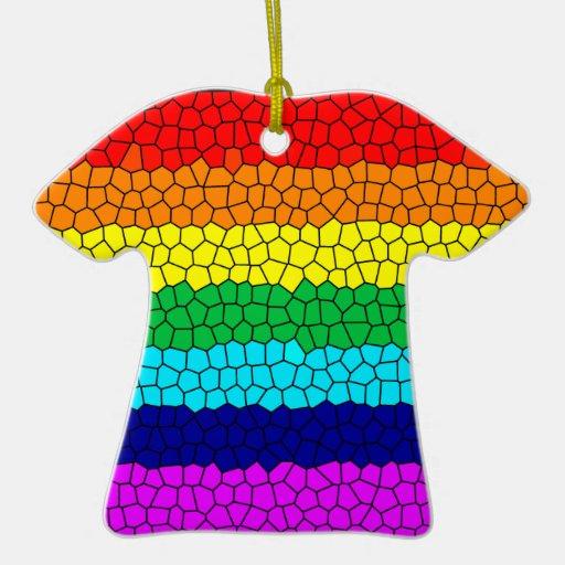 Rainbow Mosaic Ornament