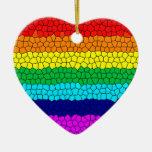 Rainbow Mosaic Ornaments