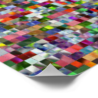 Rainbow Mosaic Poster