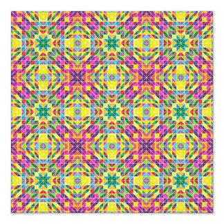 Rainbow mosaic repeat card