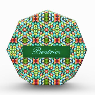 Rainbow Mosaic Tiles Stones Acrylic Award