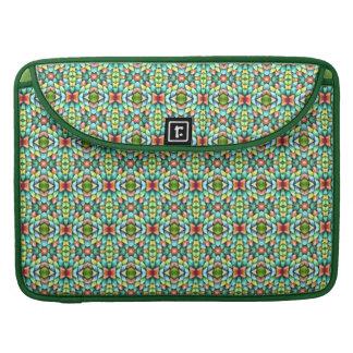 Rainbow Mosaic Tiles Stones Fancy Mexican Tile MacBook Pro Sleeves