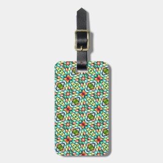 Rainbow Mosaic Tiles Stones Luggage Tag