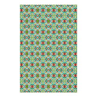 Rainbow Mosaic Tiles Stones Stationery Design