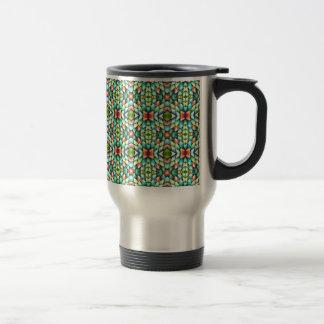 Rainbow Mosaic Tiles Stones Travel Mug