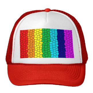 Rainbow Mosaic Trucker Hat