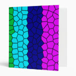 Rainbow Mosaic Vinyl Binder