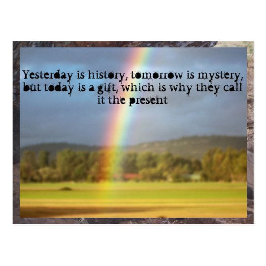 rainbow motivation... postcard