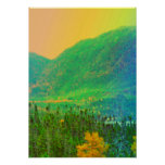 Rainbow Mountains Trees Newfoundland Canada Posters