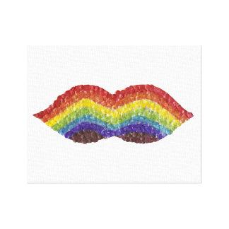 Rainbow Moustache Canvas