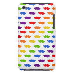 Case-Mate iPod Touch Barely There Case with Mustache Rainbow design