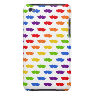 Rainbow Moustaches Barely There iPod Case